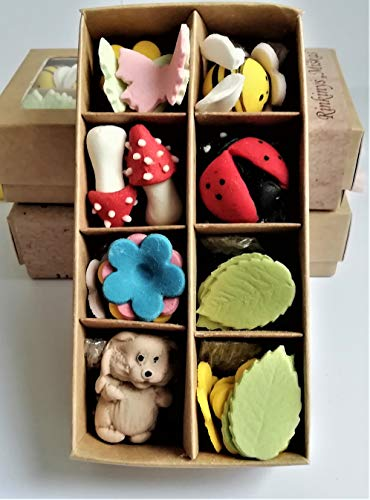 Noah Bakery Alta Calidad Conjunto de Bosque de Flores de azúcar Diferentes Colores comestibles Decoraciones Hecho a Mano Boda de Pastel