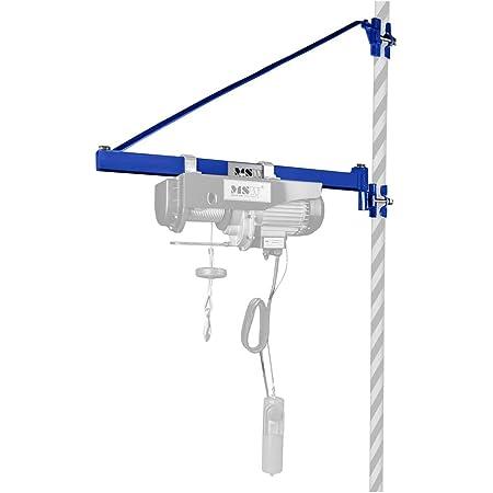 MSW Bras de Rotation pour Palan PROFRAME 1000 (capacité de charge 1.000 kg, potence 750 mm, pour tubes en acier de 40-50 mm, espacement des brides 520 mm)