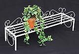 DanDiBo Blumenbank Metall Weiß 75 cm Blumenständer Mi Blumenregal Blumentreppe Pflanzentreppe Blumenregal Pflanzenständer Blumenhocker
