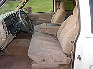 Durafit Seat Covers C976 Taupe Chevy Silverado, Tahoe and GMC Sierra Front 60/40 Split Seat with Opening Center Console in Taupe Velour