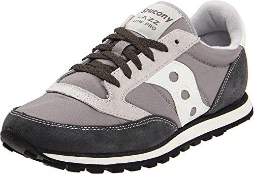 Saucony Originals Men's Jazz Low Pro Classic Retro Sneaker, Grey/White, 10.5 M US