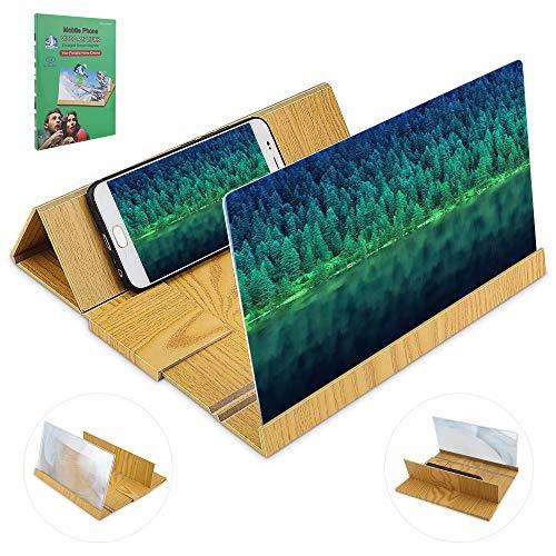 Telefoon Scherm Vergrootglas 3D Mobiele Telefoon Scherm Vergrootglas Vergroot Houten Telefoonhouder Stand 12 Inch Scherm Vergrootglas voor Smart Phone