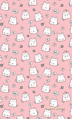 Agenda Kawaii: Gatti Buffi Sfondo Rosa - Valida per tutti gli anni
