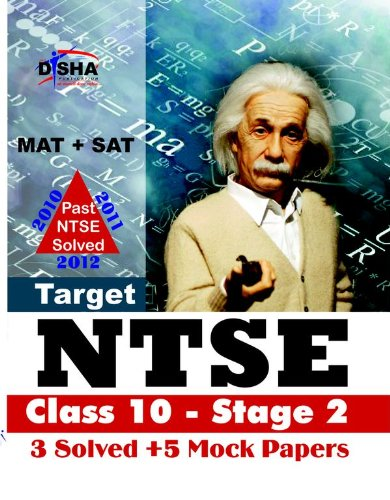 Target NTSE Class 10 - Stage 2: 3 Solved Papers + 5 Mock Tests (MAT + SAT)