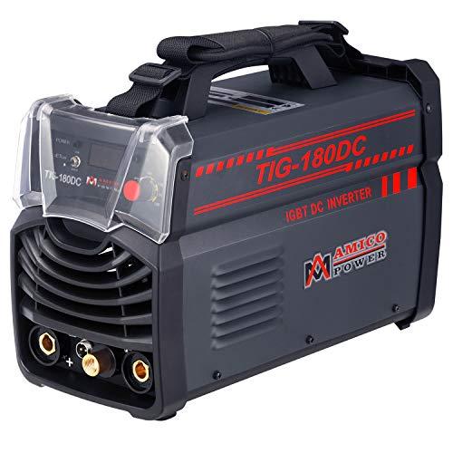 Amico 180 Amp TIG Torch Arc Stick 2-in-1 DC Inverter Welder 110/230V Dual Voltage Welding TIG-180DC