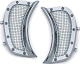 Kuryakyn 6518 Motorcycle Accessory: Mesh Headlight Vent Accents for 2015-19 Harley-Davidson Road...
