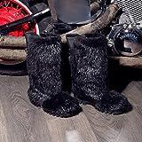 Black Beaver Fur Boots for Men, Mukluk Boots, Viking Boots, Yeti Boots, Furry Snow Boots, Winter Boots, Eskimo Boots LITVIN