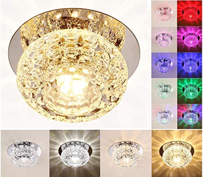 WUYAO Kronleuchter LED Kristall Downlight Runde Deckenleuchte Korridor Gang Licht Deckenleuchte Pendelleuchte