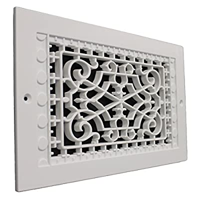 SMI Ventilation Products VWM614 Cold Air Return - 6 in x 14 in Victorian Style Wall Mount - Outside Dimensions 8 in x 16 in