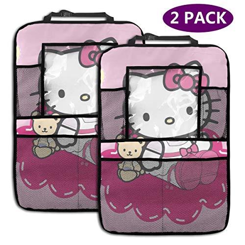 TBLHM Hello Kitty Lot de 2 organiseurs pour siège arrière de Voiture avec Support pour Tablette