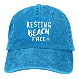 Gymini Resting Beach 4 Gorras de béisbol lavables de algodón para adultos ajustables para hombre mujer azul