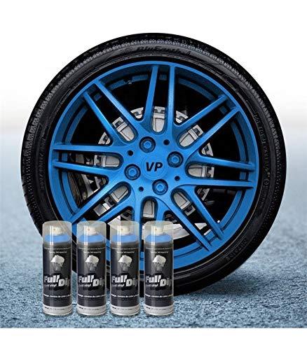 AutoFullCar Pack 4 Sprays Full Dip Azul Metalizado