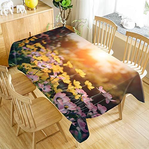 XXDD Mantel de Flores a Prueba de Polvo Mantel de Cena Rectangular decoración de Boda Cubierta de Mesa Textiles para el hogar A6 140x140cm