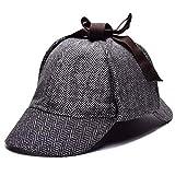 Qb Cap Detective Sherlock Holmes Deerstalker Hat Gorras de Invierno Hombres Mujeres Nuevas Boinas Cap Peaky Blinders Hat