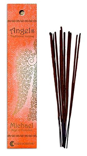Fiore D 'Oriente Angeli incenso Michael in Corallo imballaggio, bambù, Multicolore, Confezione da 10
