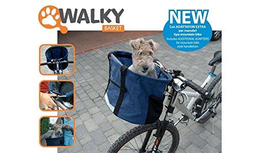 Camon Walky Basket - Papelera Cesta Portador De La Bici De Nylon Del Gato Del Perro Casero, Con Los Bolsillos Organizador, Fácil De Solucionar