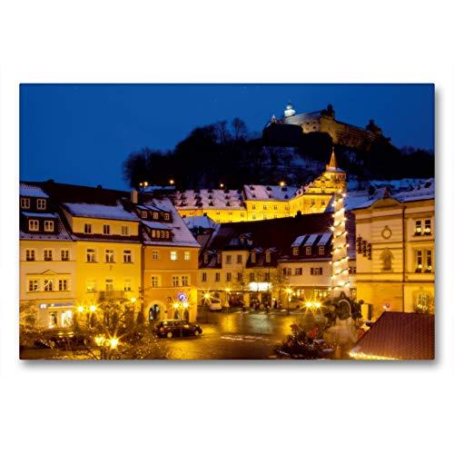 Premium Textil-Leinwand 90 x 60 cm Quer-Format Kulmbach im Advent | Wandbild, HD-Bild auf Keilrahmen, Fertigbild auf hochwertigem Vlies, Leinwanddruck von Karin Dietzel