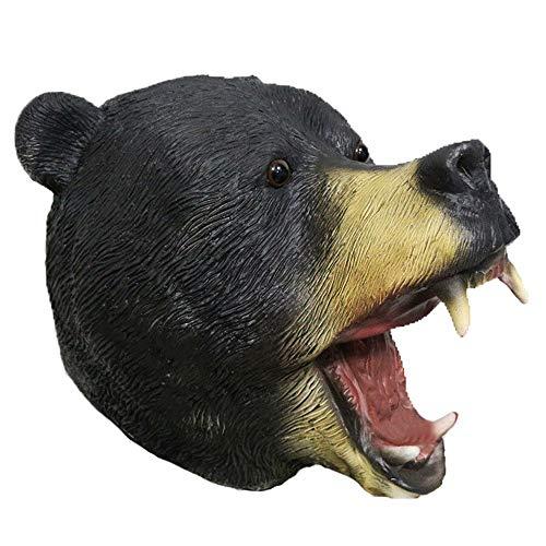 American Bear Mask Latex Animal Bear Mask Halloween Costume Forest Fancy Props Masks