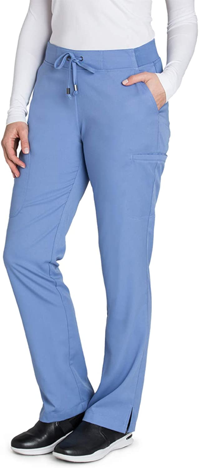 BARCO Grey's Anatomy Women's Mia Pant, Easy Care Medical Scrub Pants w/ 6 Pockets & Elastic Drawcord Waistband: Clothing, Shoes & Jewelry