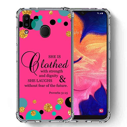 for Samsung Galaxy A30 Case,Galaxy A20 Case, SuperbBeast [Proverbs 31:25 She is Clothed in Strength and Dignity] Ultra Slim Thin Protective Case Cover/Reinforced Corner