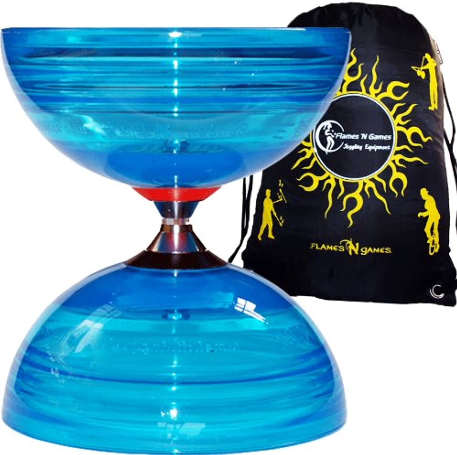 Sundia SHINING PRO Triple Bearing Diabolo (bluee) + Fabric Diablo Travel Bag. TOP OF THE RANGE DIABOLO No Diabolo Sticks or String Included.