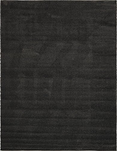 Unique Loom Solo Collection Solid Plush Kids Charcoal Area Rug (10' 0 x 13' 0)