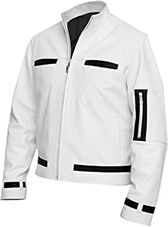 King of Fighter Kyo Gaming White Leather Jacket