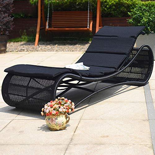 N/Z Equipo Diario Sillón reclinable al Aire Libre Silla de Gravedad Cero Sofá de Ocio para Piscina Jardín Terraza Terraza Exterior Patio