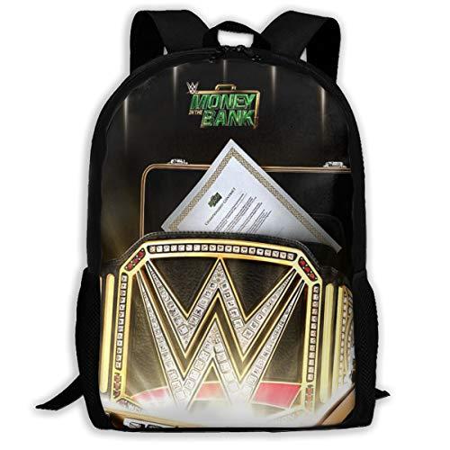 WWE Money in The Bank Lightweight Travel Laptops Backpack School Bookbag
