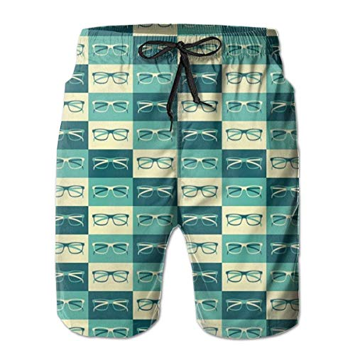 Gafas en estilo vintage para hombre traje de baño de secado rápido deportes playa surf running natación pantalones cortos