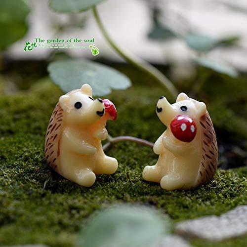 SONIRY 2pcs / Set Mini Pingüino Miniatura Cabra Figurines para Bonsai decoración Micro Paisaje de la decoración: