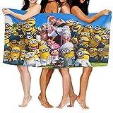 Cute Doormat Minions - Toalla para mujer, 100% algodón, muy absorbente, de rizo suave, para ducha, spa, sauna, playa, gimnasio, toalla