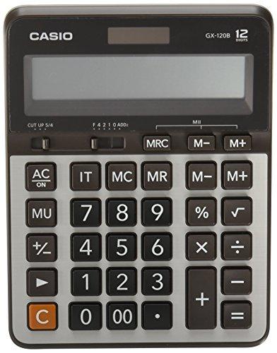Casio GX-120B-W-DC Calculadora de Escritorio, Color Gris