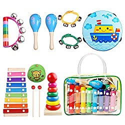 Childom Musical Instruments for Kids - Top 10 Best Baby Musical Instrument Sets