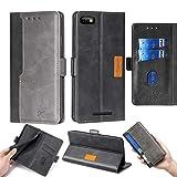 Oujietong Case for BLU Studio Mini 5.5 HD/BLU G5 Case Silicone TPU + Flip Cover Stand Shell Black