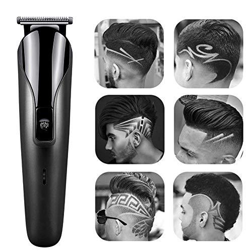SHOH USB Electric Haircut Kit, Tondeuse Set Met Gids Kam Oplaadbare Trimmers Set T-vormige Tondeuse Kit Voor Mannen Dagelijkse Verzorging forsale