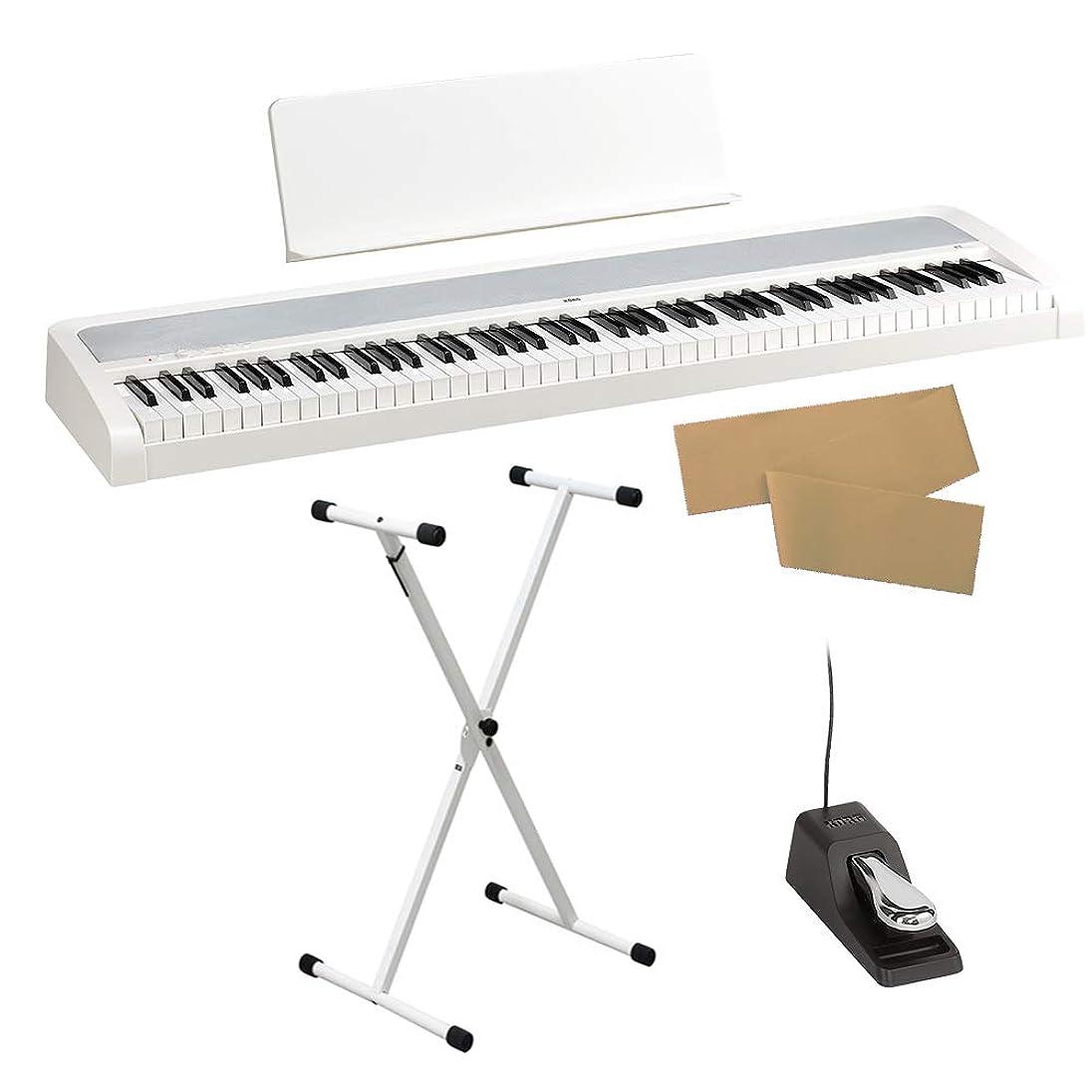たるみ妥協ロック解除KORG B2 WH ホワイト X型スタンドセット 電子ピアノ 88鍵盤 コルグ