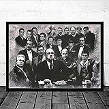 Hao Sai's shop Padrino Goodfellas Scarface Sopranos Movie Art Poster Canvas Painting Wall Picture Decoración para El Hogar Carteles E Impresiones B27 40X60Cm Sin Marco