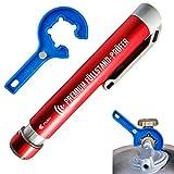 CAGO Premium Gas-Füllstandsanzeiger Gasflasche Anzeige Gasstand Gasfüllstandsanzeige für Gasflaschen-Füllstandsmesser Prüfer Indikator Gasflaschen Gasregler Schlüssel