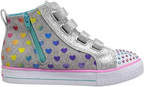 Skechers Mädchen Shuffle Lite-Fancy Flutters Hohe Sneaker, Grau (Grey/Multi Gymt), 21 EU