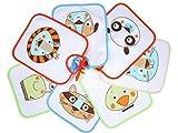 Ti TIN - Pack de 7 Baberos Impermeables para Bebés 73% Algodón - 27%...