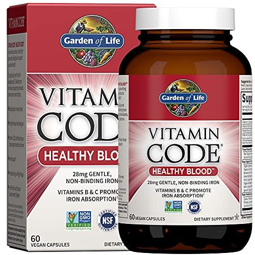 Garden of Life Vitamin Code Iron Supplement,...