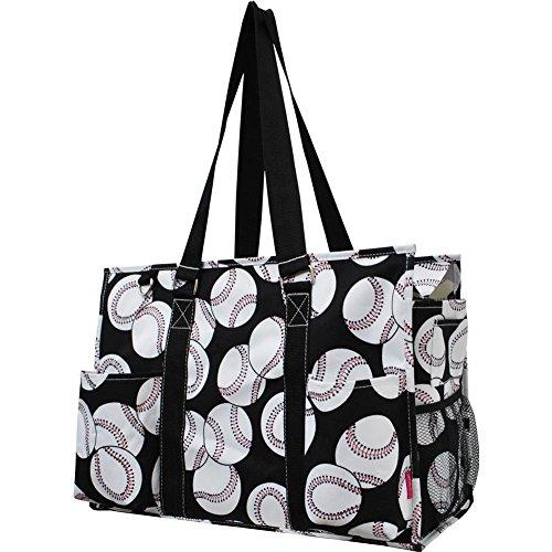 Ocean Themed Prints NGIL Large Travel Caddy Organizer Tote Bag (Baseball Print)