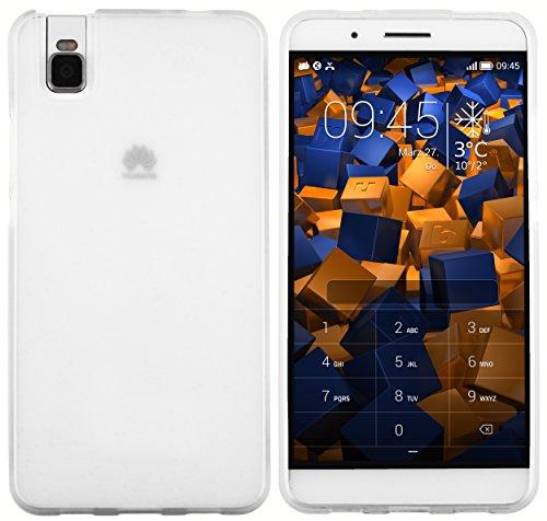 mumbi Hülle kompatibel mit Huawei Shotx Handy Hülle Handyhülle, transparent weiss