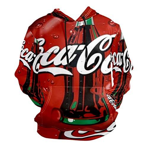 Coca-Cola Long Sleeve Pullover Hooded Sweatshirts Unisex Fashion 3D Print Hoodies for Men Women Adult Teens Children 2XL
