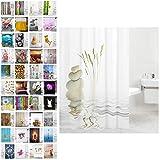 Sanilo Duschvorhang, viele schöne Duschvorhänge zur Auswahl, hochwertige Qualität, inkl. 12 Ringe, wasserdicht, Anti-Schimmel-Effekt (Balance, 180 x 200 cm)