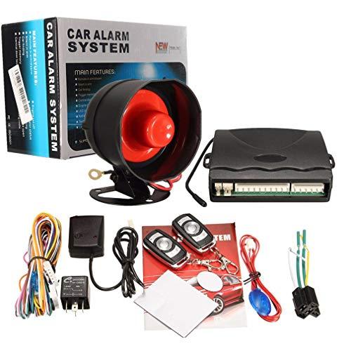 Coche de alta potencia sirena seguridad alarma sistema de control remoto universal 12 V coche alarma sistema una manera a antirrobo