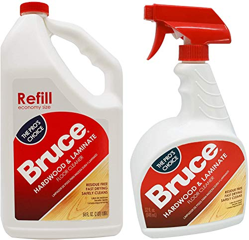 Bruce 64 oz+32oz NoWax Hardwood and Laminate Floor Cleaner Value Pack, Packaging May Vary
