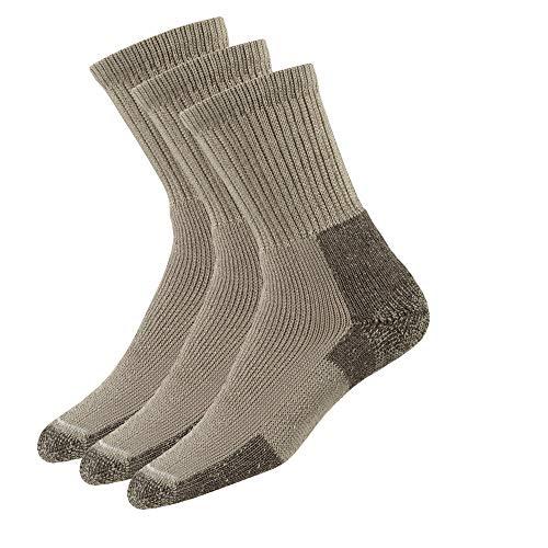 Thorlos KX Max Cushion Hiking Crew Socks, Khaki (3 Pair Pack), Large
