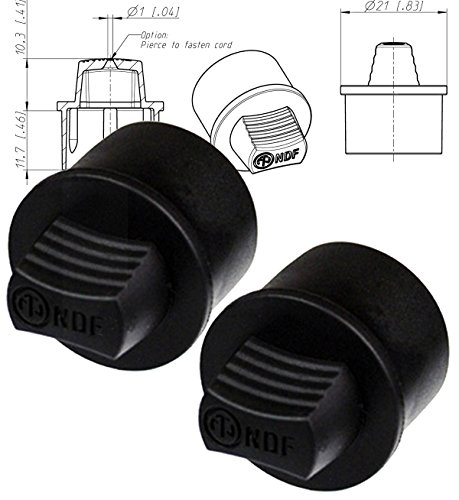 Neutrik NDF Dummy (Pack of 2) Female Plug for Use with XLR Chassis Socket (Dust Cover) XLR RECEPT